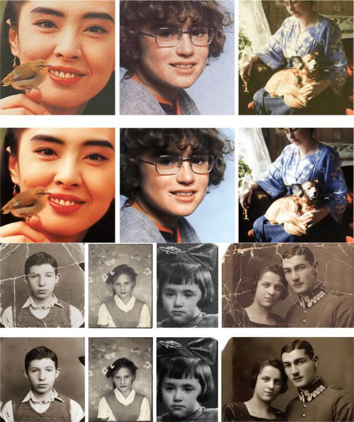 百年老照片修复算法,那些高颜值的父母!
